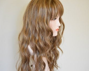 Long loose wave three color mixed blonde