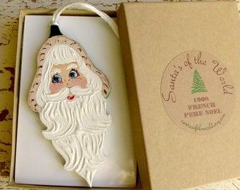 French Santa, Père Noël,  Santa Christmas Ornament, Holiday Tree Decoration, Santa Claus Collectable, Stocking Stuffer or Secret Santa Gift