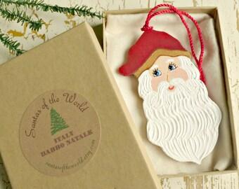 Babbo Natale Italian Santa Claus Christmas Tree Ornament Painted Holiday Tree Decoration