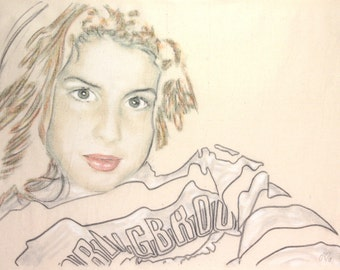 Portrait of a younger Amy Winehouse