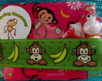 Going Bananas! Kids Soap with Handmade Washcloth & Toy - Make Bathtime Fun!