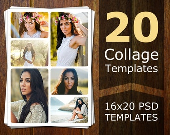 Photoshop Collage Templates - Photo Collage Templates - Storyboard Templates - PSD Templates - Photography Photo Templates Flyer CT003