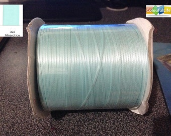 """Promotion, Free shipping, 25 yards, Double faced Satin, Mineral Ice, light blue, 1/16"""", 2mm, 1/16 inch"""