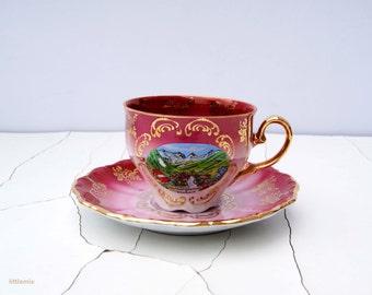 Vintage Seltmann Weiden Germany G ' Hinterglemm Saalbach' china cup with saucer