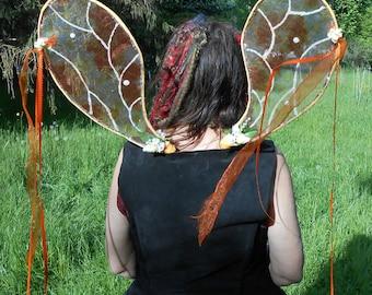 Faerie Wings Orange Flower Faerie