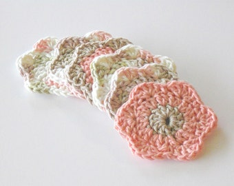 Facial Cleansing Pads- Drink Coaster- Crochet Face Scrubbies- Washcloth- Makeup Removers- Candle Mat