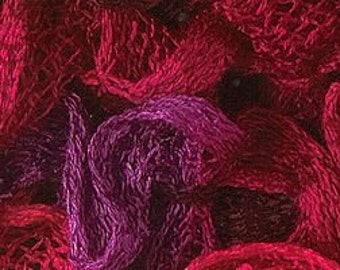 Katia Ondas Ruffle Scarf Yarn Color 74 Red Magenta. Great Buy!!  Regular price is 12.00.