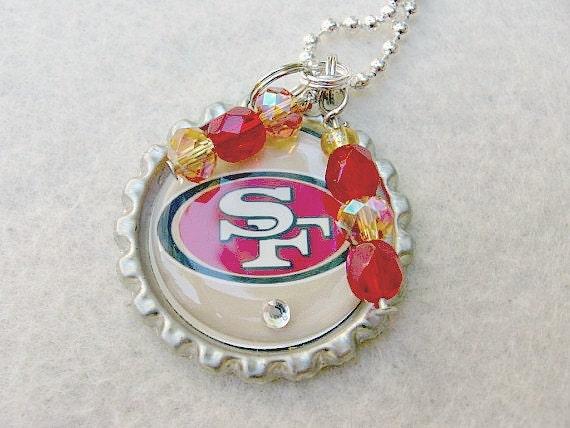 nfl san francisco 49ers pendant necklace by
