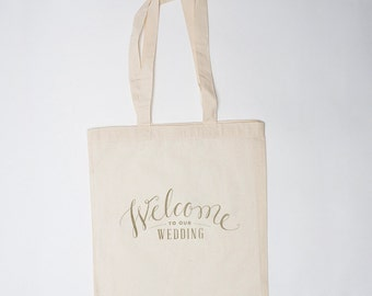 Wedding Welcome Bag (10), Canvas Tote, Welcome to our Wedding Bag, Wedding Guest Bag, Wedding Gift Bag, Wedding Hotel Bag, Wedding Favor Bag
