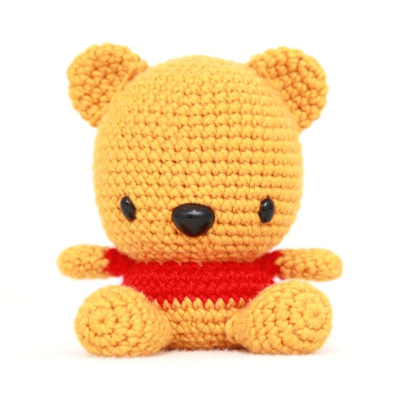 Amigurumi Disney Livre : Fat Face Bear Amigurumi Pattern from fatfaceandme on Etsy ...