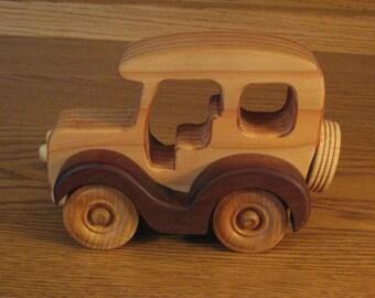 """Wood Car c3 (3""""W x 4""""H x  6""""L)"""