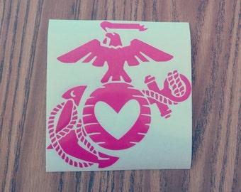 ORIGINAL USMC love   decal
