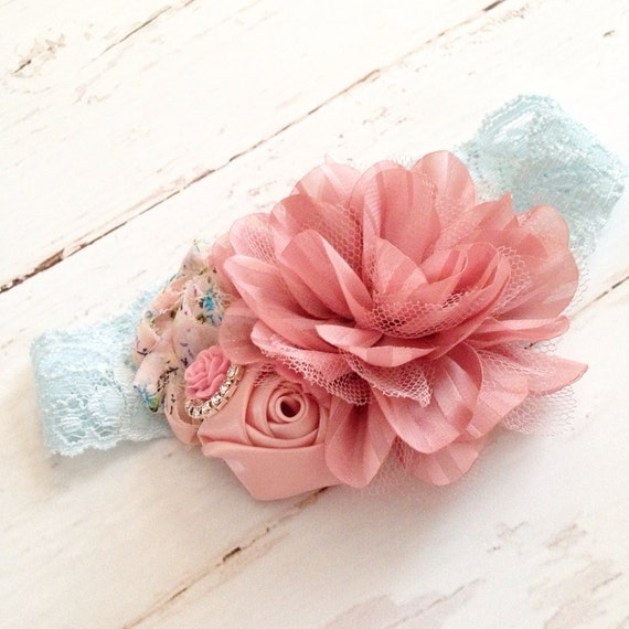 Pale Blue Mauve Dusty Rose Blush Pink By Goldfeatherboutique