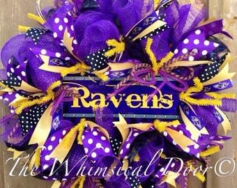 Baltimore Ravens Football Wreath Ready To Ship