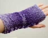 fingerless mittens lovely purple colour