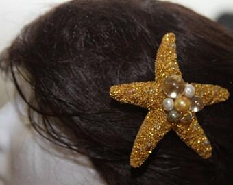 """Sea Star 3.5"""" hair clip"""