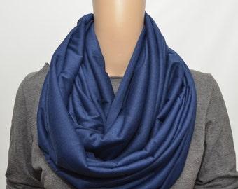 Dark blue infinity scarf