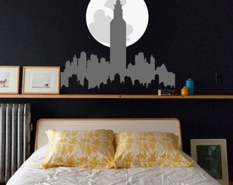 City Decal, New York City Skyline, City Skyline Wall Decal, City Wall Decal Part 28