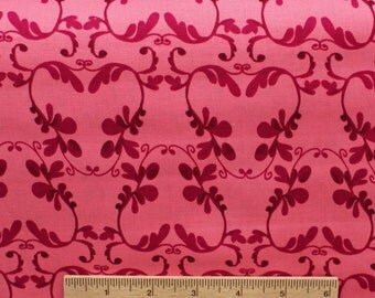Tina Givens fabric Havens Edge Climber TG87 Violet purple pink abstract design vine Sewing Quilting fabric cotton by the yard Free Spirit