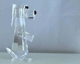 Swarovski Crystal Figurine Standing Dog Pluto, Retired