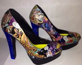 Custom made Wonder Woman heels