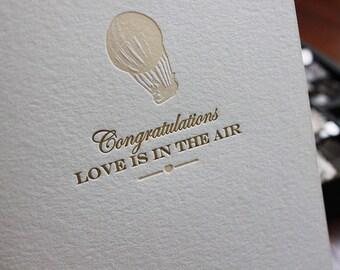 Letterpress Engagement Card - Vintage