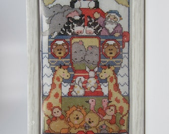 Vintage Noah's Ark Counted Cross Stitch Two by Two Kit