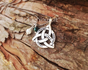 Hand Stamped Celtic Knot - Family
