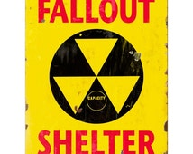 Fallout Shelter Capacity Yellow Wall Decal #50319