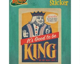 Good To Be King Dad Man Cave Vinyl Sticker #48008