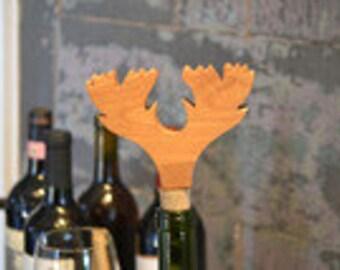 Moose Antlers Bottle Stopper