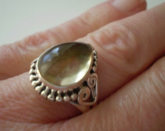 Citrine (Natural) 925 Sterling Silver Ring Size 7.50