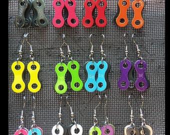 Bike Chain Link Earrings