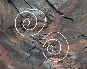 Gold filled or sterling hoop earrings