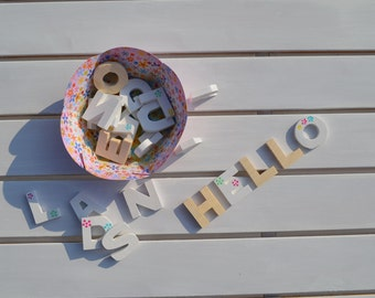 Mini wooden Letters