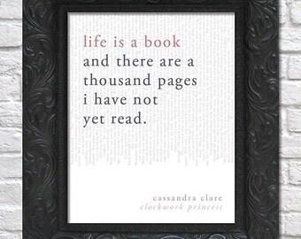 literary art print / book quote // the infernal devices, book 3: clockwork princess; cassandra clare
