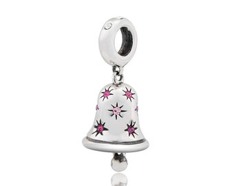 Pink Bell Dangle Charm