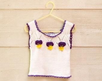 Knitting Pattern Baby Singlet : Baby top pattern Etsy