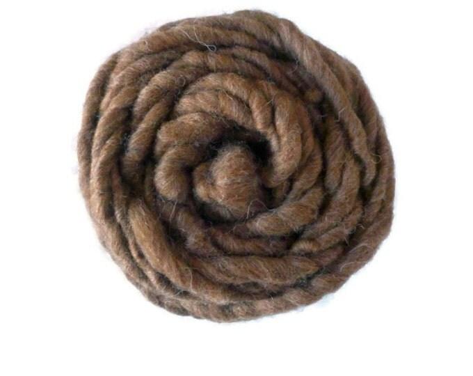 Super bulky yarn, Shetland Moorit yarn, Super chunky yarn, handspun yarn, bulky yarn, chunky yarn, hand spun yarn 100g