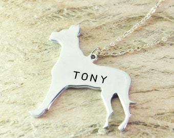 great dane  dog necklace dog pendant best friend Birthday Gift pet memorial gift dog charm Animal Lover Jewelry925 sterling silver
