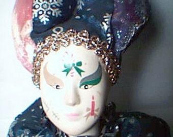 Beautiful Clown Doll in Multi-Color