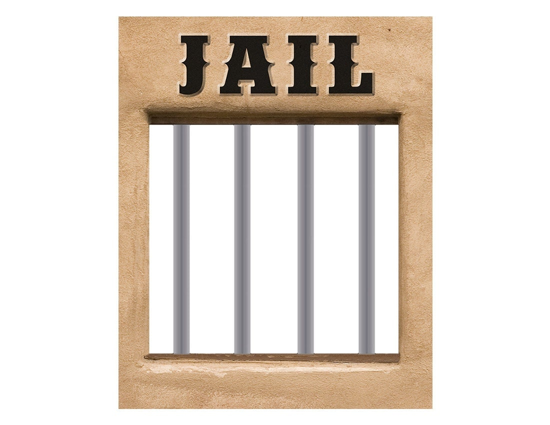 Jail Poster Western Cowboy Rodeo Birthday Party Theme