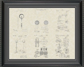 Science Patent Collection Print Gift PSCIN2024
