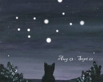 Kitty watching the Stars - Virgo