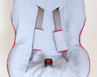 Custom Car Seat Cover and Matching Buckle Covers