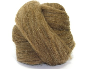 Brown Manx Loaghtan Top - 100g/3.5oz Wool Felt/Felting - Roving - Hand Spinning