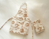dollhouse miniature apron 1/12 scale