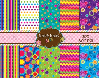 40% Off! Pretty Sassy Digital Paper Pack Instant Download