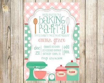 Bake Birthday Party Invitation