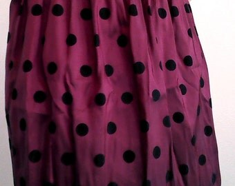 Lady Bug, Red with Black Spots, Above the Knee Skirt